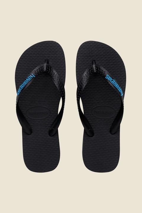 Havaianas Rubber Logo Black/Blue