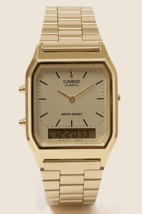CASIO AQ230GA Duo Watch Gold