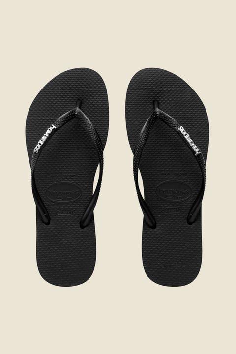 HAVAIANAS Slim Metal Logo Black/Silver