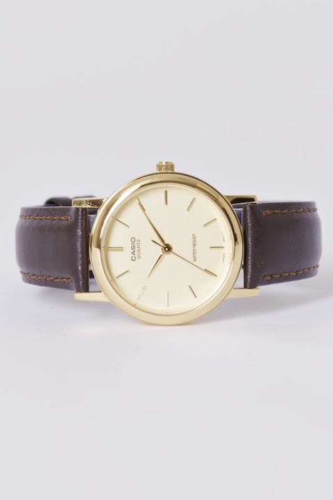 CASIO Analogue Gold/Brown