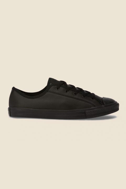 CONVERSE Womens Chuck Taylor AS Dainty Leather Black