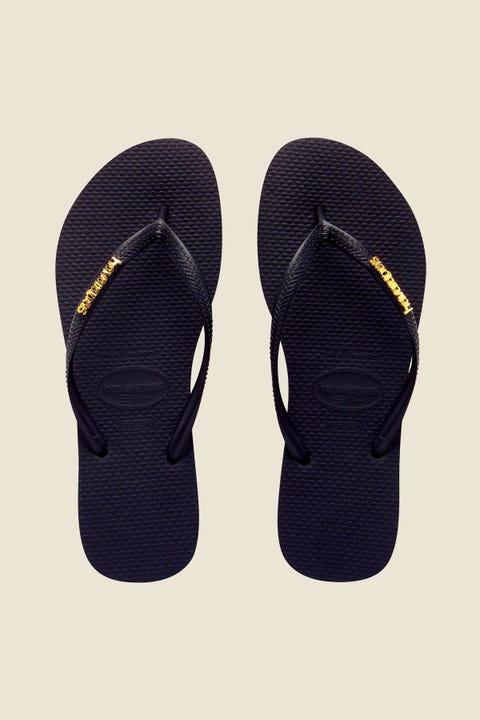 Havaianas Slim Metal Logo Black/Gold