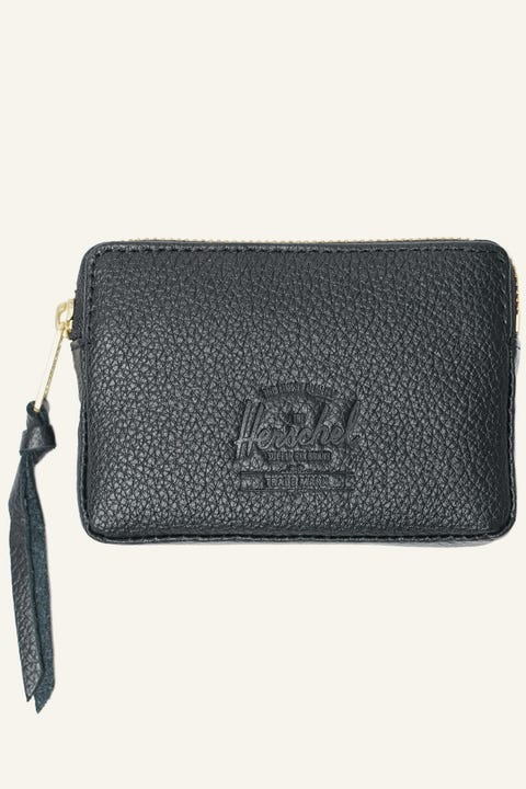 HERSCHEL SUPPLY CO. Oxford Leather Wallet Black Pebble