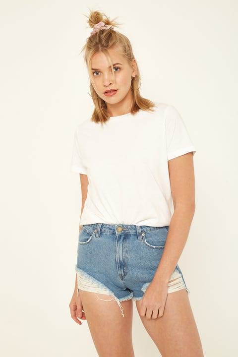 Abrand A. High Relaxed Short Salty Blue