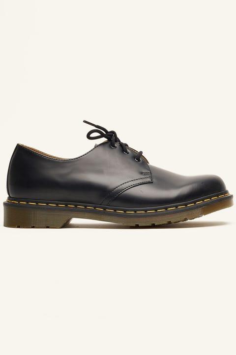 DR MARTENS 1461 3 Eye Shoe Black Smooth
