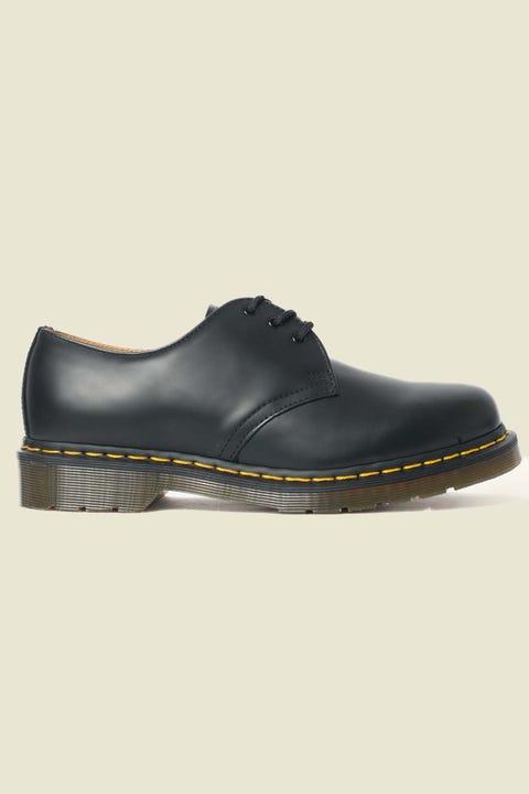 Dr Martens Womens 1461 3 Eye Shoe Black Smooth