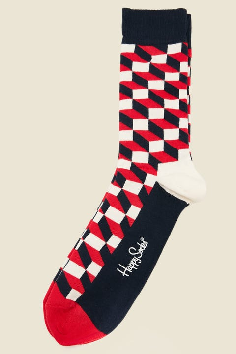 Happy Socks Filled Optic Socks Red
