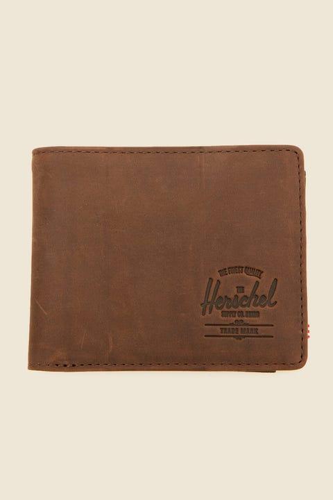 HERSCHEL SUPPLY CO. Hank Coin Leather Wallet Nubuck
