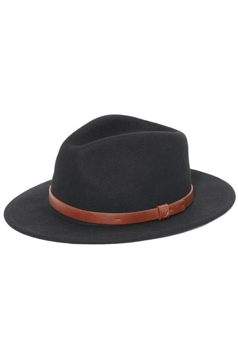 BRIXTON Messer Fedora Black/Tan