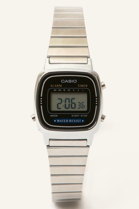 Casio LA670WA Digital Watch Silver/Black