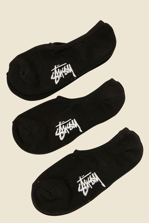 STUSSY Stock No Show Sock 3pk Black