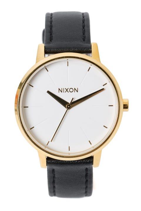 Nixon Kensington Leather Gold/Black/White