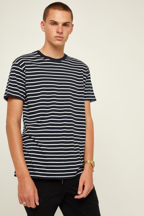 AS Colour Staple Stripe Tee Navy/ White