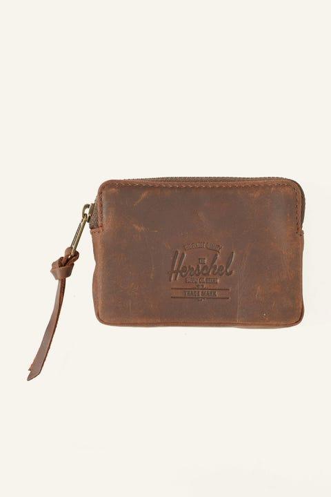 HERSCHEL SUPPLY CO. Oxford Leather Wallet Nubuck Brown