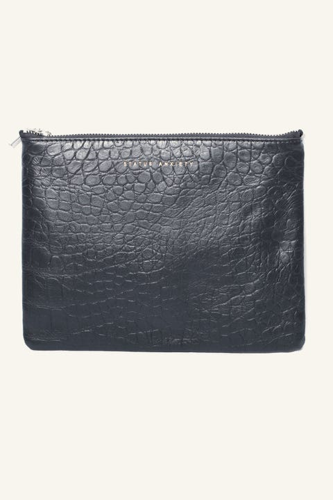 STATUS ANXIETY Antiheroine Pouch Black Croc