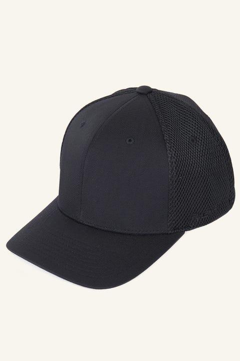 FLEXFIT Ultrafibre Airmesh Cap Black