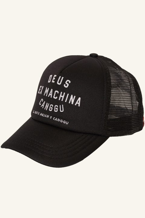 Deus Ex Machina Canggu Address Trucker Black