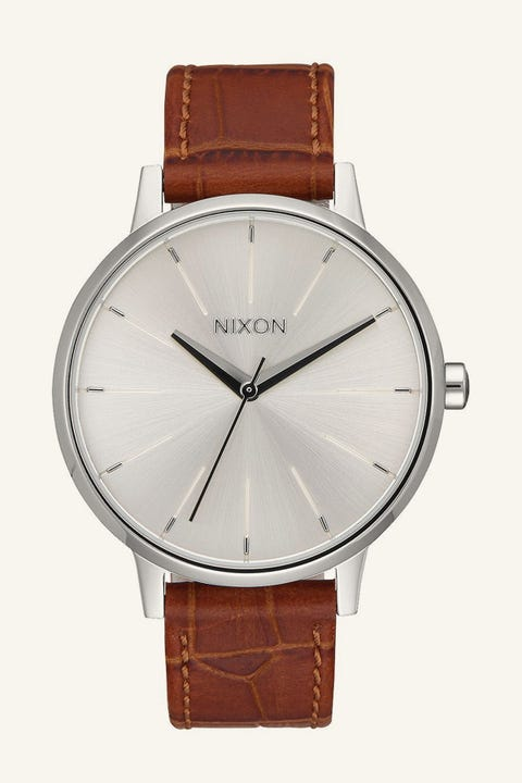 NIXON Kensington Leather Silver/Saddle Gator