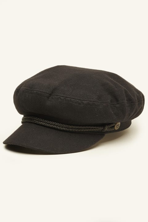 Brixton Fiddler Cap Black Herringbone