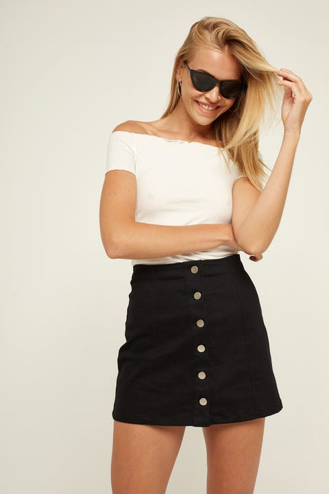 Pare Basic Shelby Skirt Black