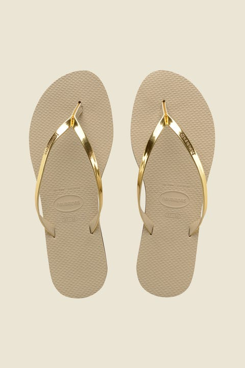 Havaianas You Metallic Thong Sand