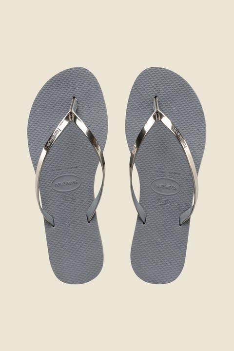 HAVAIANAS You Metallic Thong Steel Grey