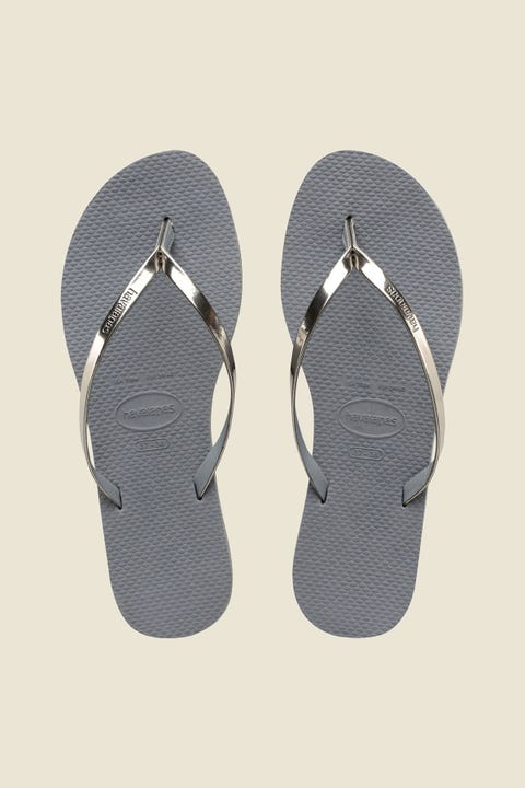 Havaianas You Metallic Thong Steel Grey