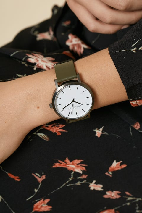 THE HORSE Original Watch Brushed Gunmetal/Olive