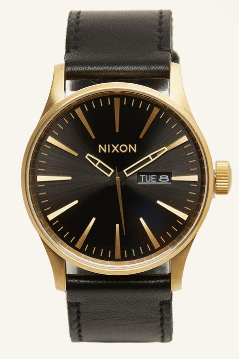 NIXON Sentry Leather Gold/Black