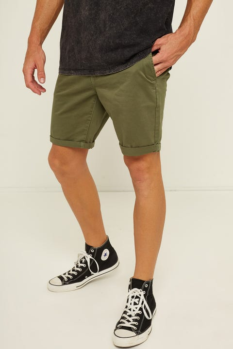 Common Need Stock Chino Short Olive