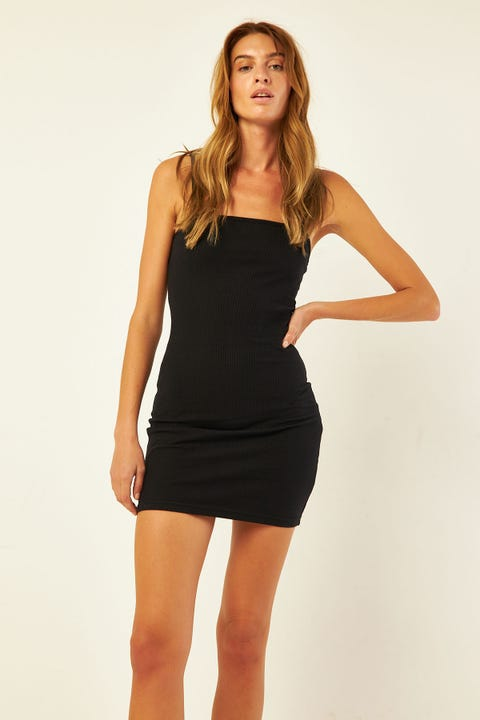 L&t Harmony Dress Rib Black