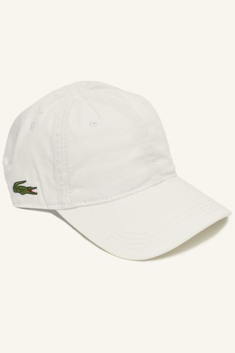 Lacoste Basic Side Croc Cotton Cap White