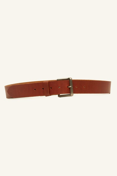 COMMON NEED Basic Belt Tan/Antique Steel