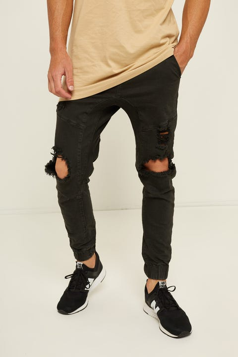 KISS CHACEY Messiah Denim Jogger Black