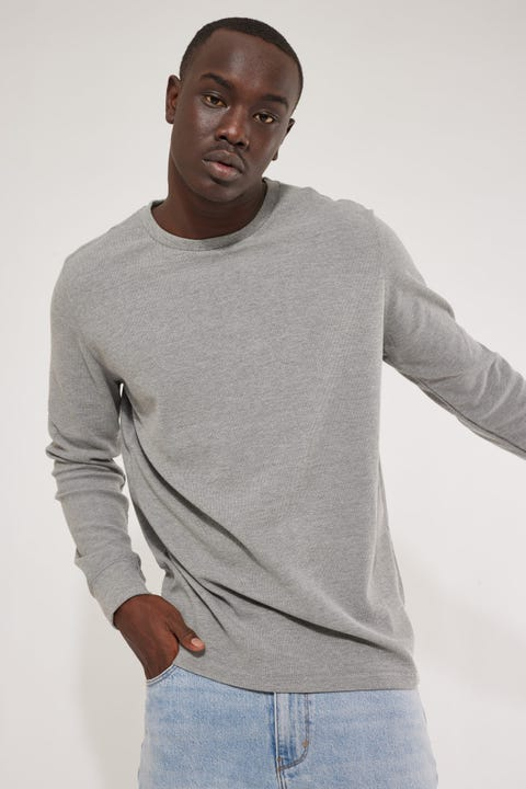 Academy Brand Workers Crew Grey Marle