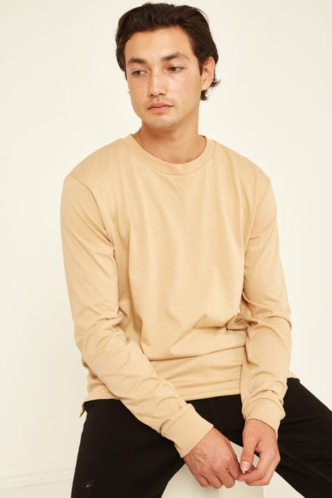 AS COLOUR Base Long-Sleeve Tee Tan