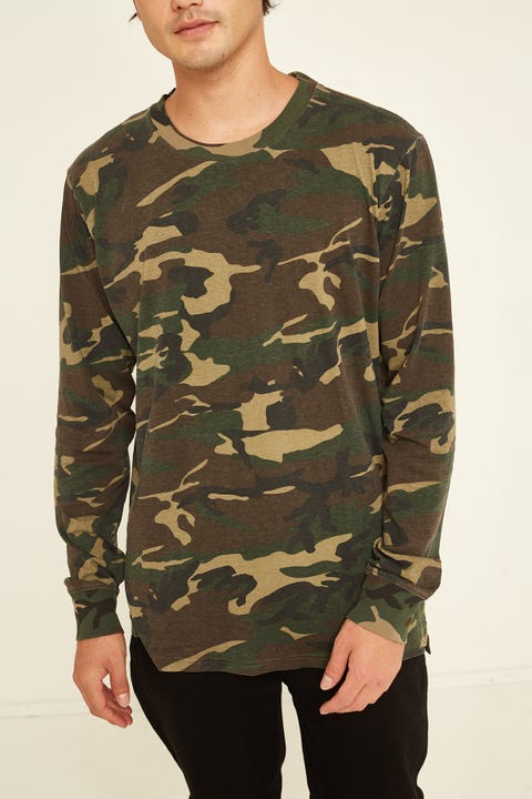 AS COLOUR Base Long-Sleeve Tee Camo