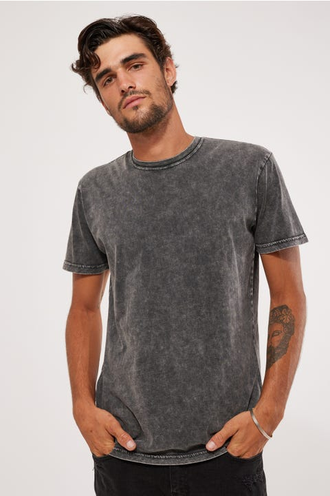 As Colour Acid Wash Staple Tee Acid Black