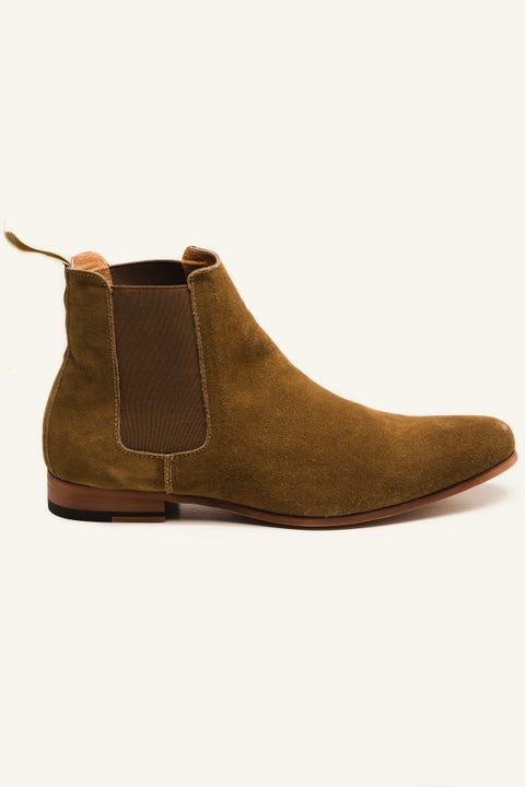 Patron Viper Chelsea Boot Tan Suede