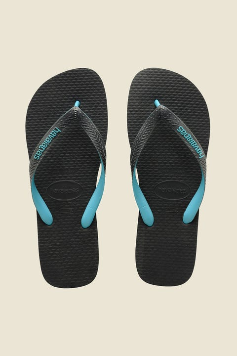 Havaianas Rubber Logo Grey/Turquoise