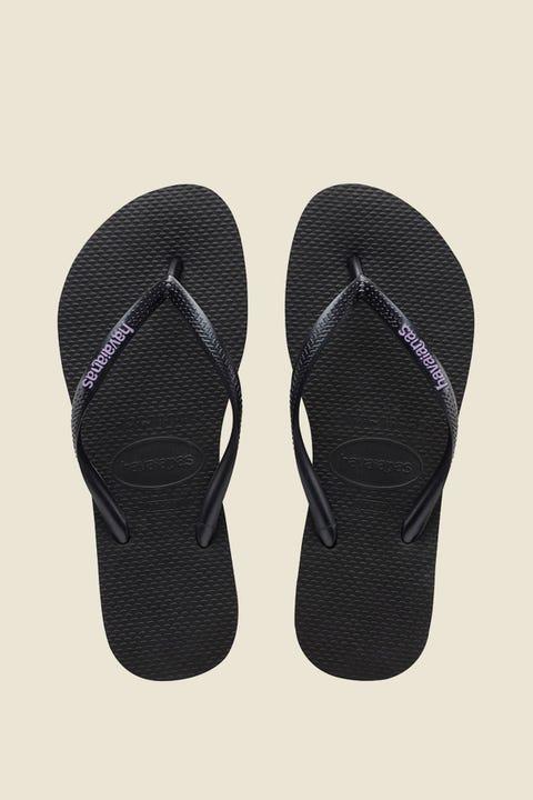 HAVAIANAS Slim Rubber Logo Black/Lilac