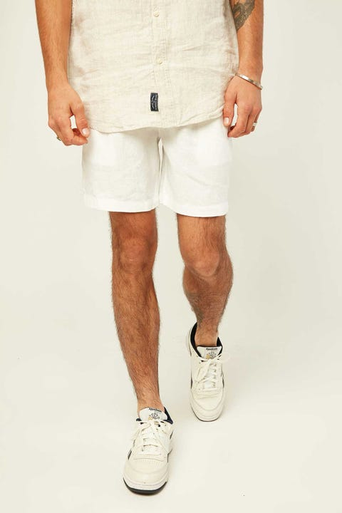 THE ACADEMY BRAND Riviera Linen Short White