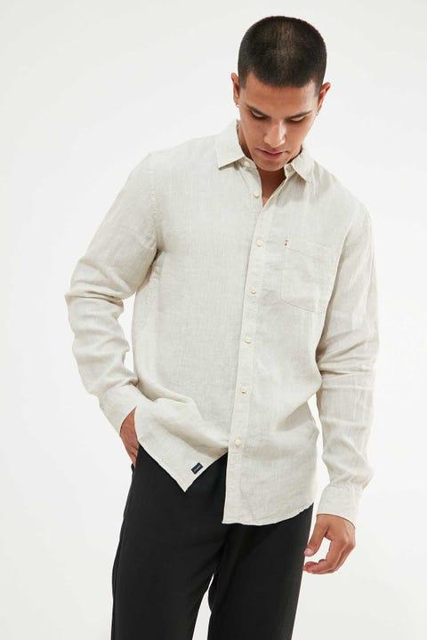 THE ACADEMY BRAND Hampton LS Shirt Oatmeal Tan