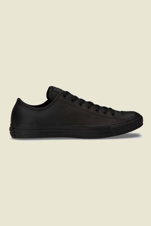 CONVERSE Womens CTAS OX Leather Blk Black