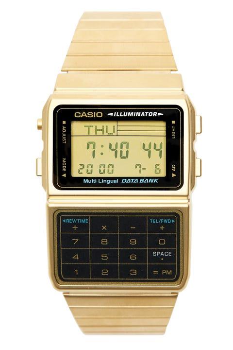 CASIO Databank Calc Vintage Digital Gold/Black