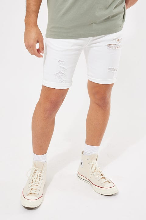 Abrand A Turn Up Short Rogue White