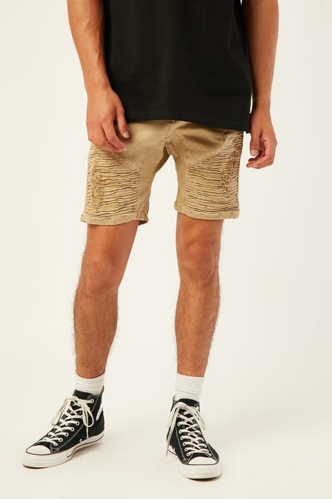 KISS CHACEY Zeppelin Denim Short Sand