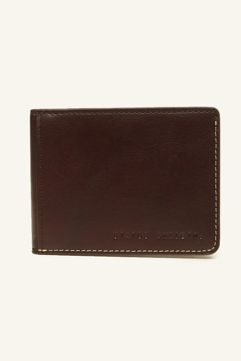 STATUS ANXIETY Ethan Wallet Chocolate