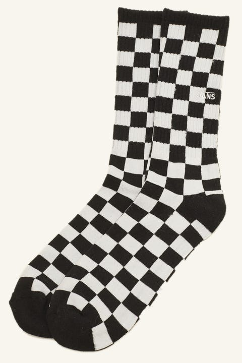 Vans Checkerboard II Crew Sock Black/White