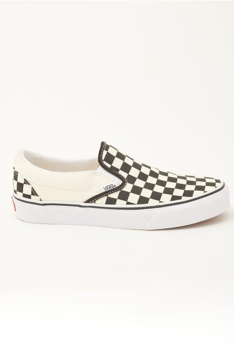 Vans Classic Slip On Black/White Checker/White